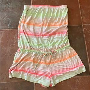 One piece strapless shorts